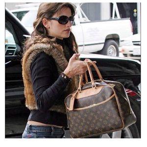 Louis Vuitton Monogram Deauville Handbag+Duster